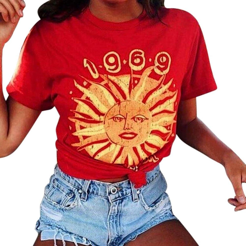 Amazon.com: DondPO Fashion Round Neck Summer Women Tank Tops Short Sleeve Tops T Shirt Casual Blouse: Clothing