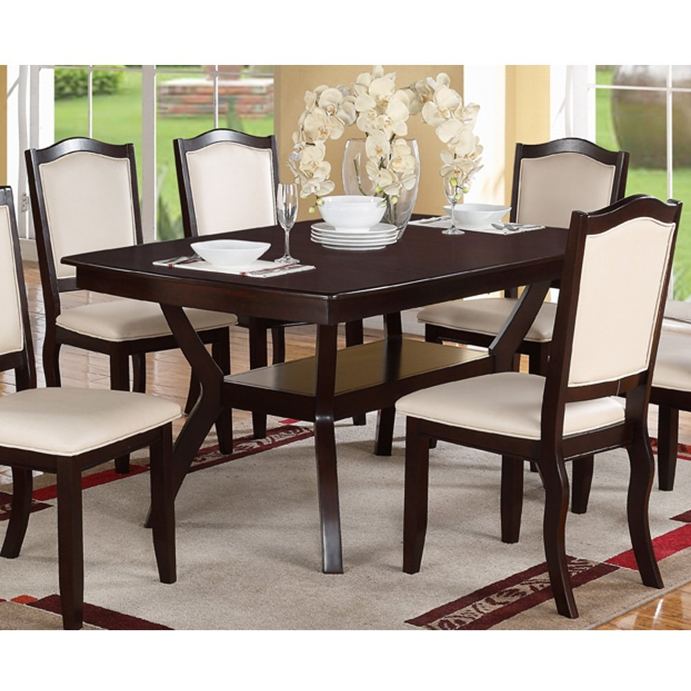 High Quality Amazon.com   Modern Rectangular Wood 7 PC Dining Table And Chairs Set    Table U0026 Chair Sets
