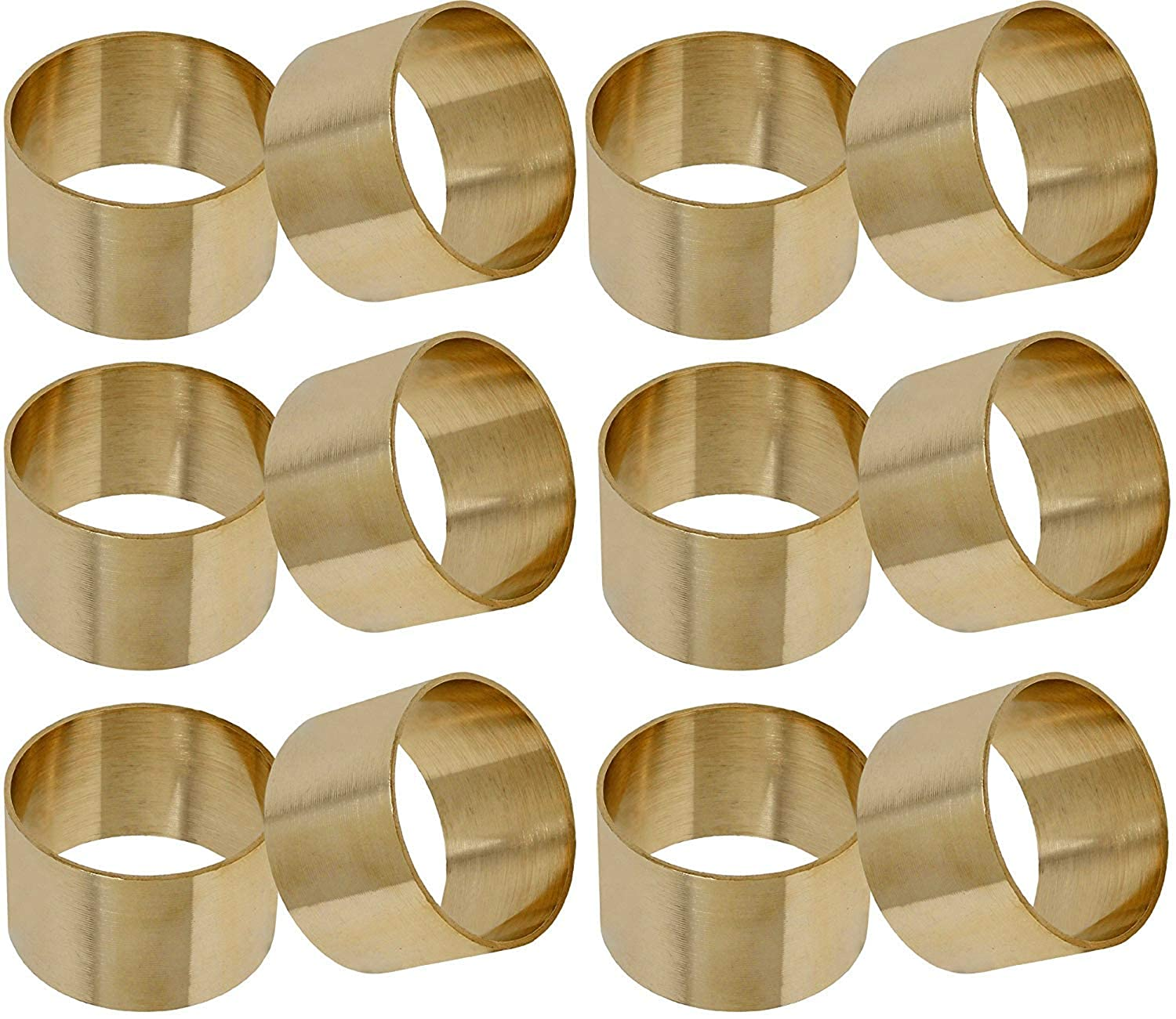 Smart Seller Point Brass Napkin Rings Set Round Weddings Dinner Parties Every Day Use Smart Seller Ppoint