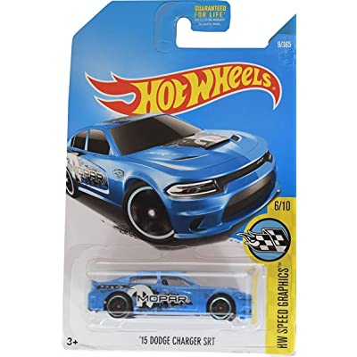Hot Wheels 2020 HW Speed Graphics '15 Dodge Charger SRT 9/365, Blue: Toys & Games
