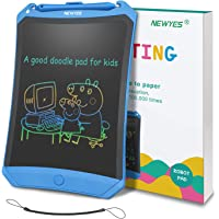 NEWYES LCD Writing Tablet Robot Pad, Colorful Display, 8.5 Inch, with Lock Switch (Blue)