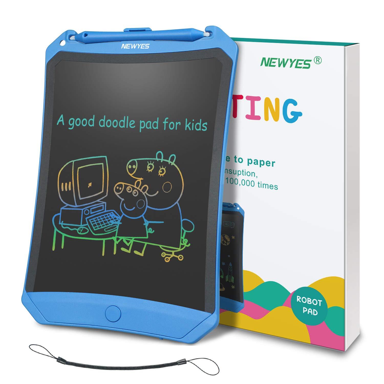 Robot Pad con tecla de Bloqueo la Escuela y la Oficina Es /útil en casa l/íneas m/ás Brillantes para ni/ños y Adultos NEWYES Tableta de Escritura LCD de 8,5 Pulgadas Blanca