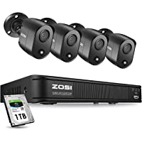 Zosi 4 Channel Security Camera System With 1TB Hard Drive & 4 X 5MP Bullet Camera