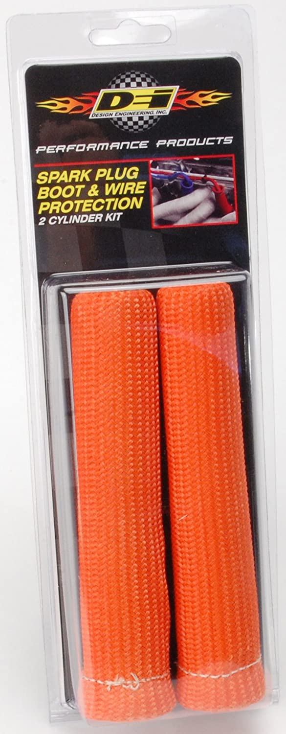 Pack of 8 Design Engineering 010572 Protect-A-Boots Spark Plug Boot Protector Sleeves 8 Orange