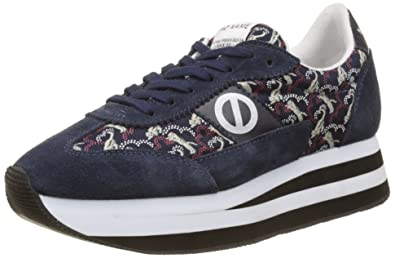 No Name Eden Jogger Beam/Split, Baskets Basses Femme, Bleu (Navy/Navy), 41 EU