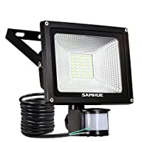 20W Projecteur LED détecteur de mouvement Eclairage SAMHUE mural extérieur étanche Lumière de sécurité idéale pour jardin, couloir, terrasse, patio
