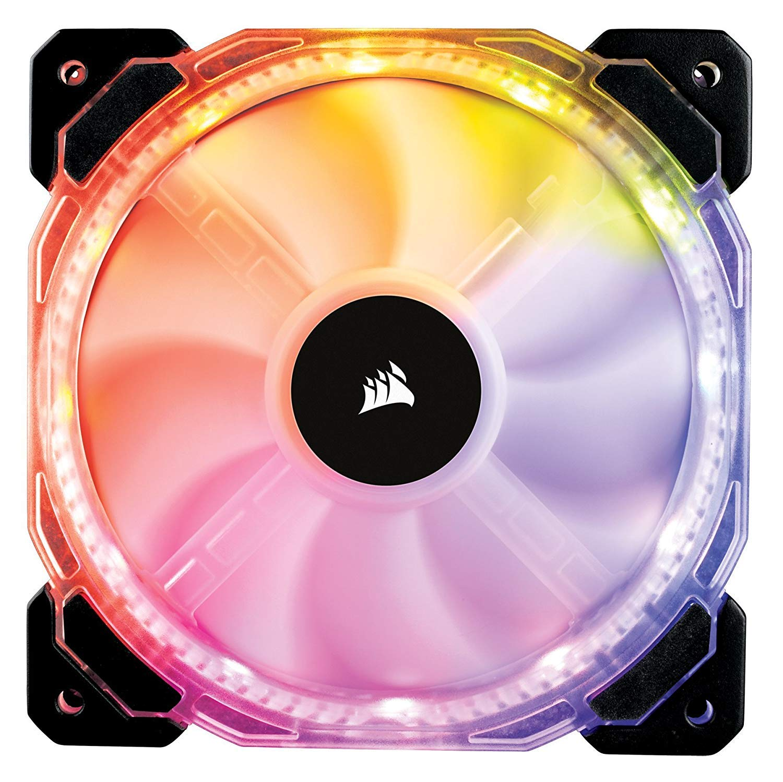 Corsair L/üfter HD120 RGB LED PWM 120mm PC-Geh/äuse-L/üfter mit bis zu 1725rpm Erweiterungskit, Angebotspaket:Ohne Controller /& Hub Inhalt:1 x 120mm L/üfter