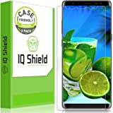 Galaxy Note 8 Screen Protector [2 Pack][Case Friendly][Not Glass], IQ Shield LiQuidSkin Full Coverage Screen Protector for Samsung Galaxy Note 8 HD Anti-Bubble [S Pen Compatible]