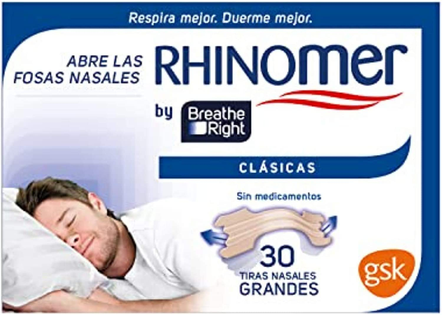 Rhinomer by Breathe Right - Tiras nasales clásicas para la ...