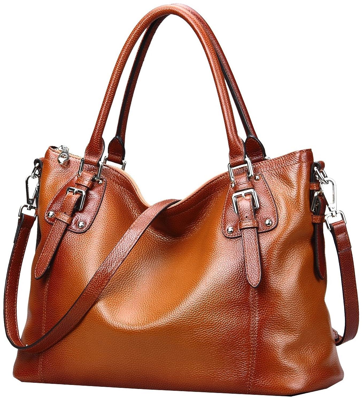 6d92db7ff990 Heshe Womens Genuinne Leather Handbags Tote Top Handle Bag Shoulder Bag for Women  Crossbody Bags Ladies Designer Purse