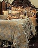 Michael Amini Elizabeth 13 Piece Comforter, King, Aqua