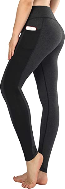 Sugar Pocket Womens Running Leggings Workout Trousers Pants with Side Pockets