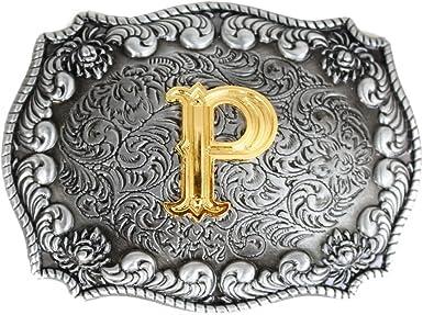 FYX Hebilla para Hombre Cintur/ón Plateado plata Talla /única