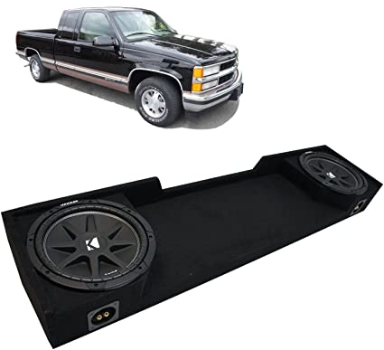 Amazon Com Compatible With 1988 1998 Chevy Ck Silverado Ext Truck Kicker Comp C12 Dual 12 Sub Box Enclosure Final 2 Ohm Car Electronics