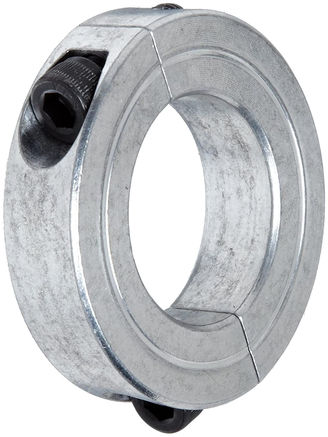 1-7//8 OD 1-1//8 Bore Size Climax Metal 2C-112-A Aluminum Two-Piece Clamping Collar With 1//4-28 x 3//4 Set Screw