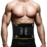 Waist Back Braces Supports Belt,SZ-Climax Adjustable Double Pull Lumbar Supports,Breathable Low Back Pain Relief Lumbar Protector,Abdominal Muscle Waist Trainer Wraps with Removable Steel Spring Stays