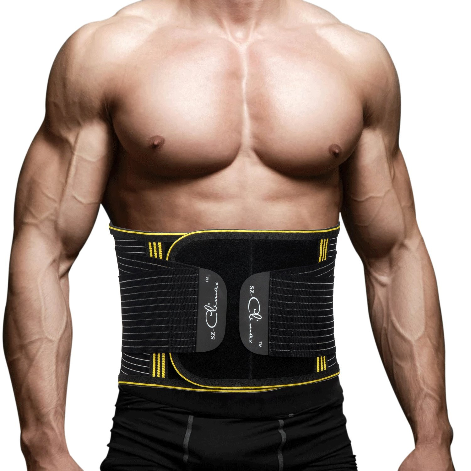 SZ-Climax Lumbar Support Back Braces Belt, Waist Trainer for Men & Women DD1-B105