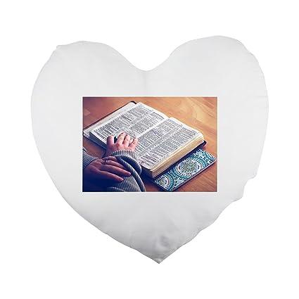 Libro Biblia Bible Estudio Biblia Abierta Forma De Corazón Funda