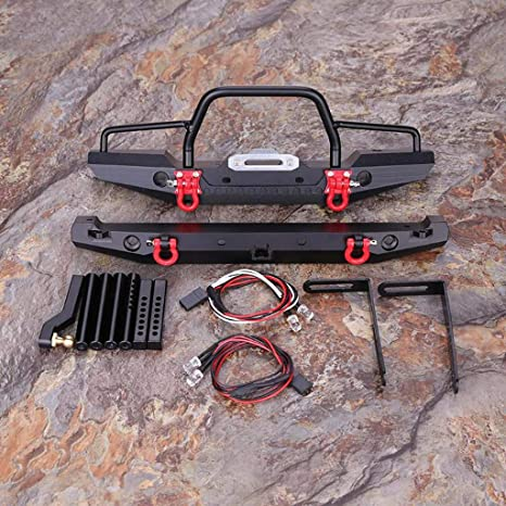 Webla - Parachoques delantero y trasero de metal para coche de ...