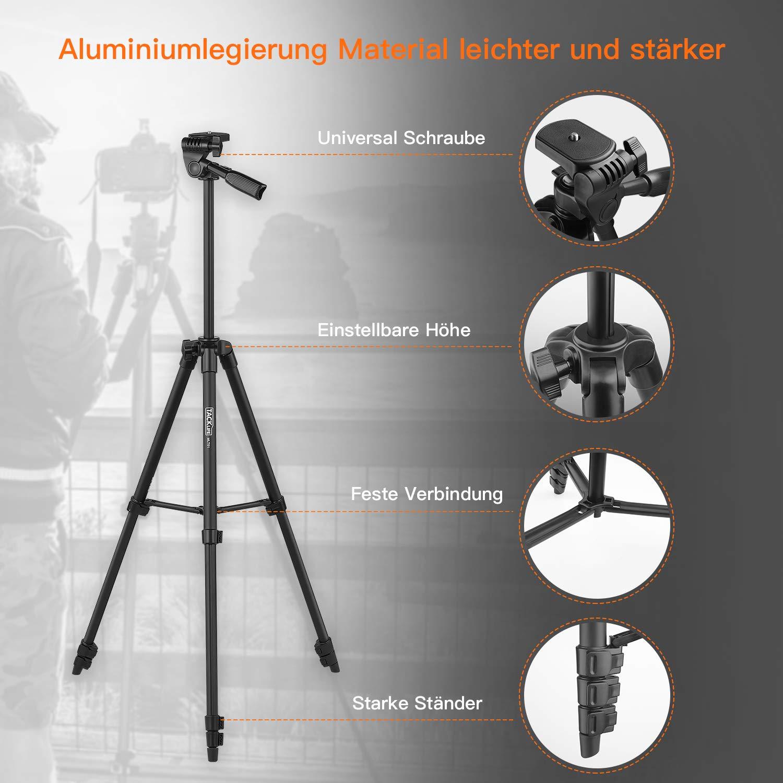 Kamera Stativ Tacklife MLT01 136cm Aluminium: Amazon.de: Kamera