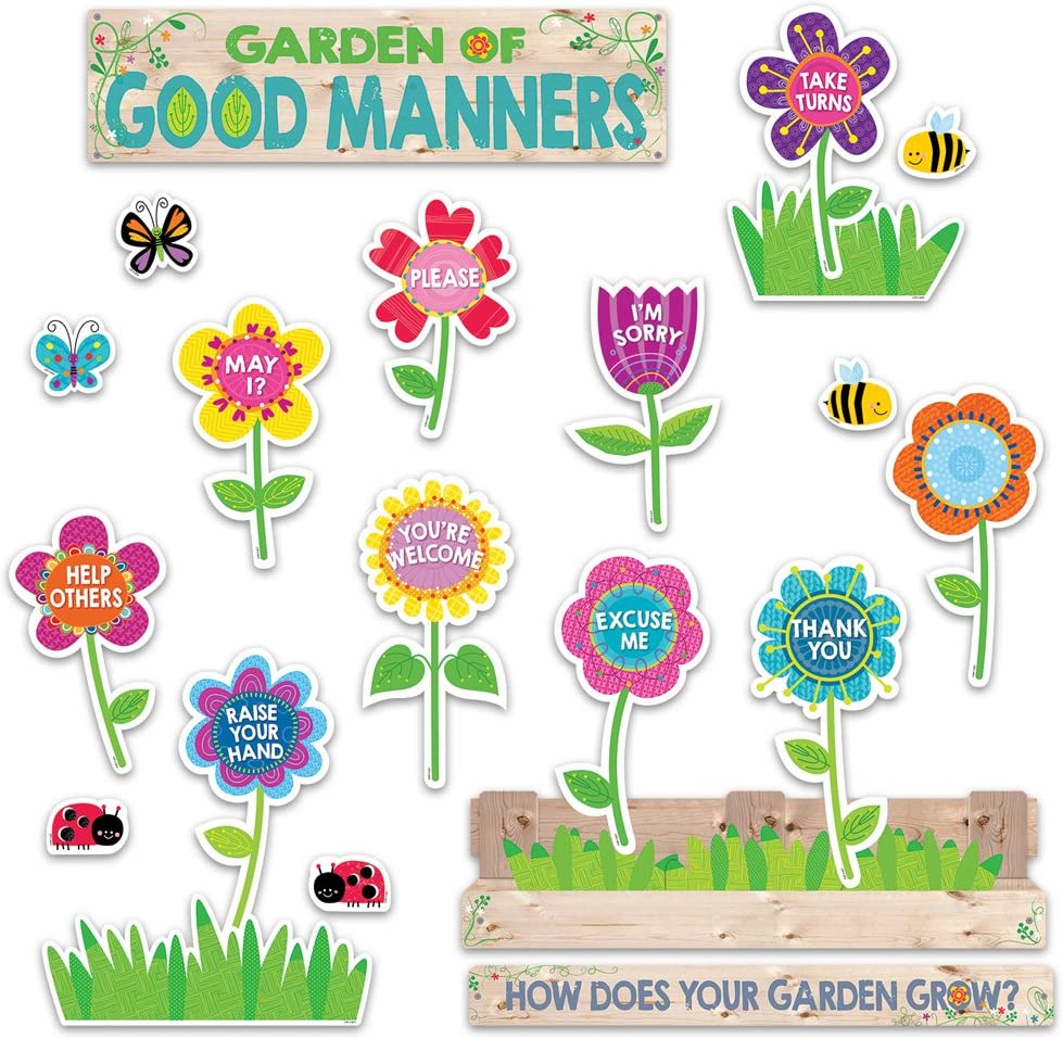 Creative Teaching Press Garden of Good Manners Mini Bulletin Board (6949)