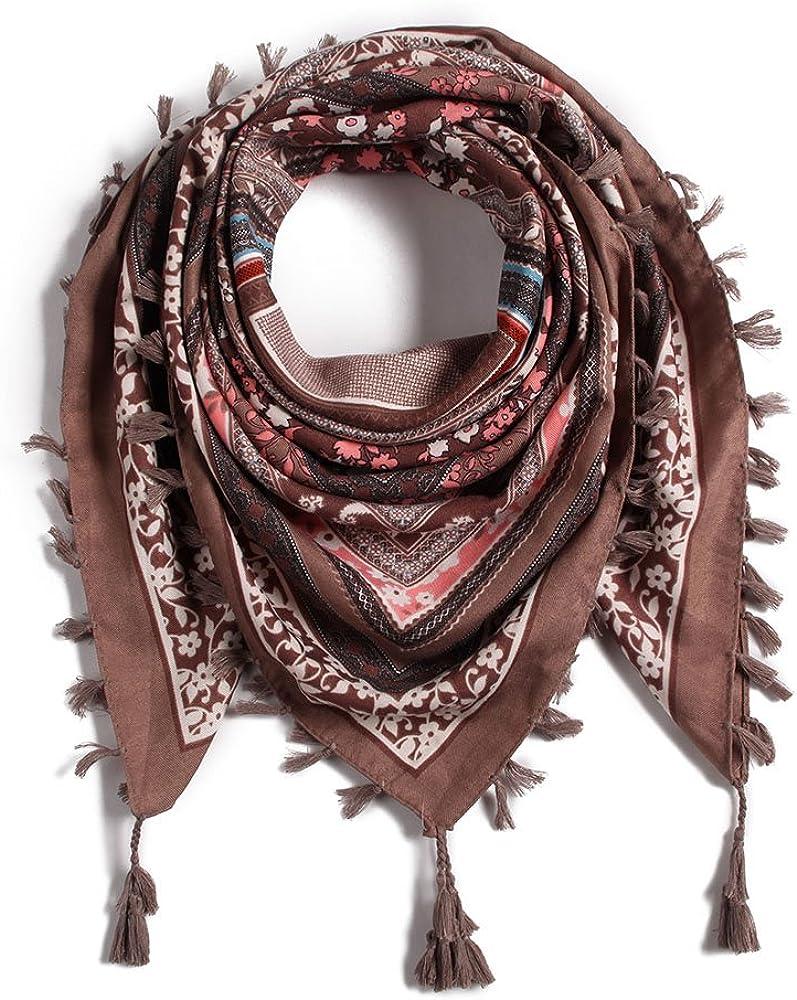 Women Tassel Scarf Cotton...