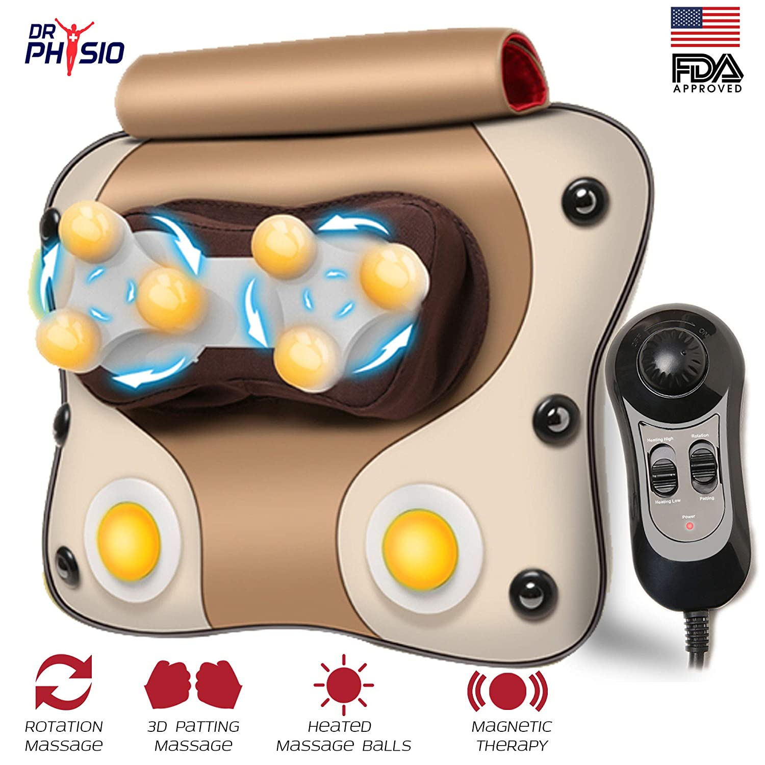 Dr Physio Cushion Massager Pro Brown