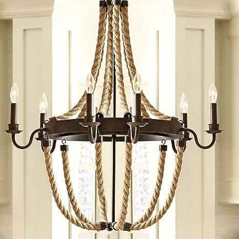 baycheer hl371841 vintage industrial style circle rope loft