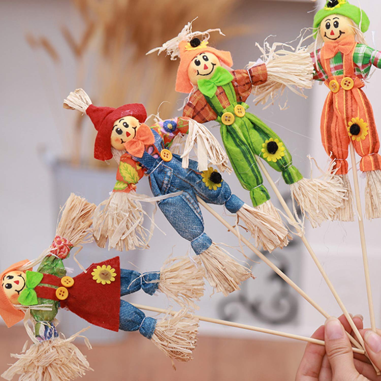 Wohlstand 6xSpaventapasseri,Decorazioni Halloween Giardino spaventapasseri Piccolo Spaventapasseri Decorazione Ringraziamento Decorazione Puntelli Ornamenti Ciondolo per Halloween Party