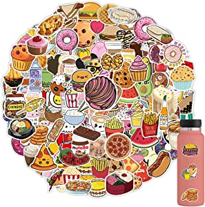 150PCS Cute Food Stickers, Vsco Laptop Stickers for Water Bottles, Waterproof Decal for Teens and Adults, Trendy Vinyl Stickers for Laptops, Computers, Hydro Flasks, Notebook, Phone Case