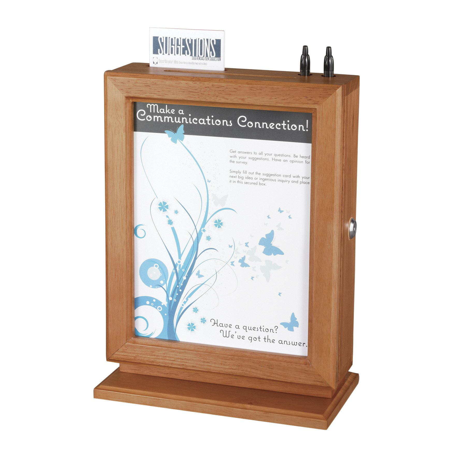 Safco Products 4236CY Customizable Wood Suggestion Box, Cherry