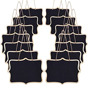 AUSTOR 14 PCS Mini Chalkboards Signs 4.7 X 6.3 Inch Hanging Message Board for Weddings