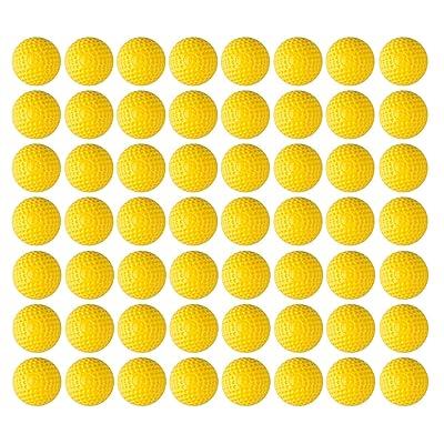 100pcs Rondas Suaves PU Dart Recargo Balas Juguetes para niños Compatible con Nerf Rival Zeus Apollo Khaos Atlas Artemis Blasters Amarillo: Juguetes y juegos