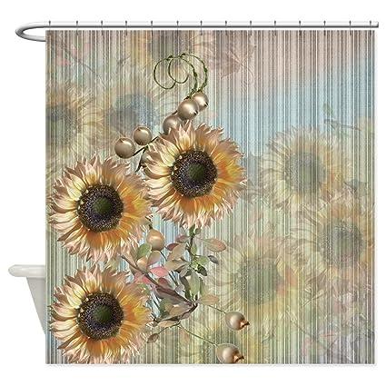 Amazon CafePress Country Sunflowers Shower Curtain Decorative