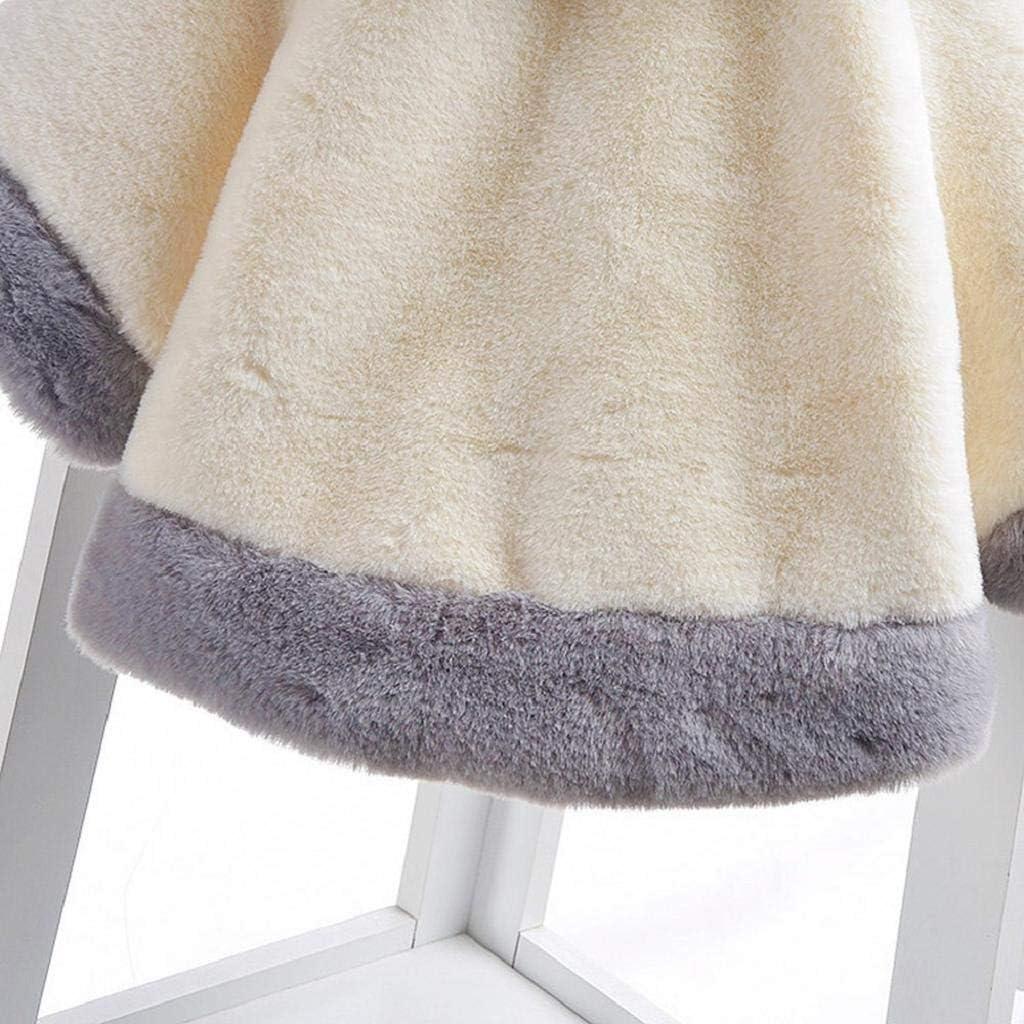 VICGREY Cappotto Bambino Elegante Bambine Giacca del Mantello Ragazze Ragazzi Cappotti Invernali Sintetico Pelliccia Inverno Cappotto Mantello Capispalla Giacche 1-2 Anni