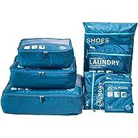Packwürfel für Reise -7 Sets Koffer-Organizer Aufbewahrungstasche wasserdicht und leichtgewichtig - Koffer Kompressionsbeutel