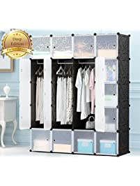 megafuture portable wardrobe for hanging clothes combination armoire modular cabinet for space saving