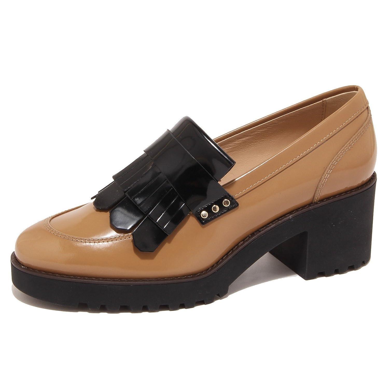 3a3f7585 5892O mocassino HOGAN ROUTE cammello scarpa donna shoe woman