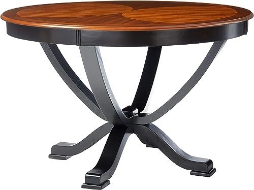Furniture of America Sahrifa Duotone Round Dining Table