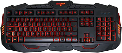 GSUMMER Gaming Keyboard Music//Daily Leisure//Game Gaming Keyboard Mouse Combo Set Silent Gaming Mouse with Red Backlight