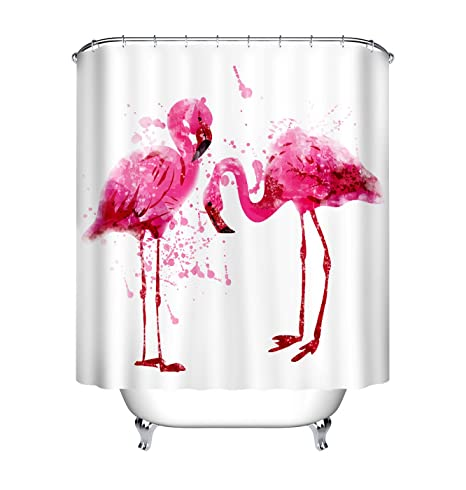 Personalized Customized Shower Curtain Waterproof Polyester Fabric /& 12 Hooks