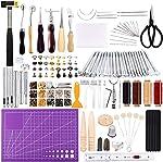 183Pcs Leather kit,Leathercraft Working Tool Kit with Saddle Making Tools Set,Leather