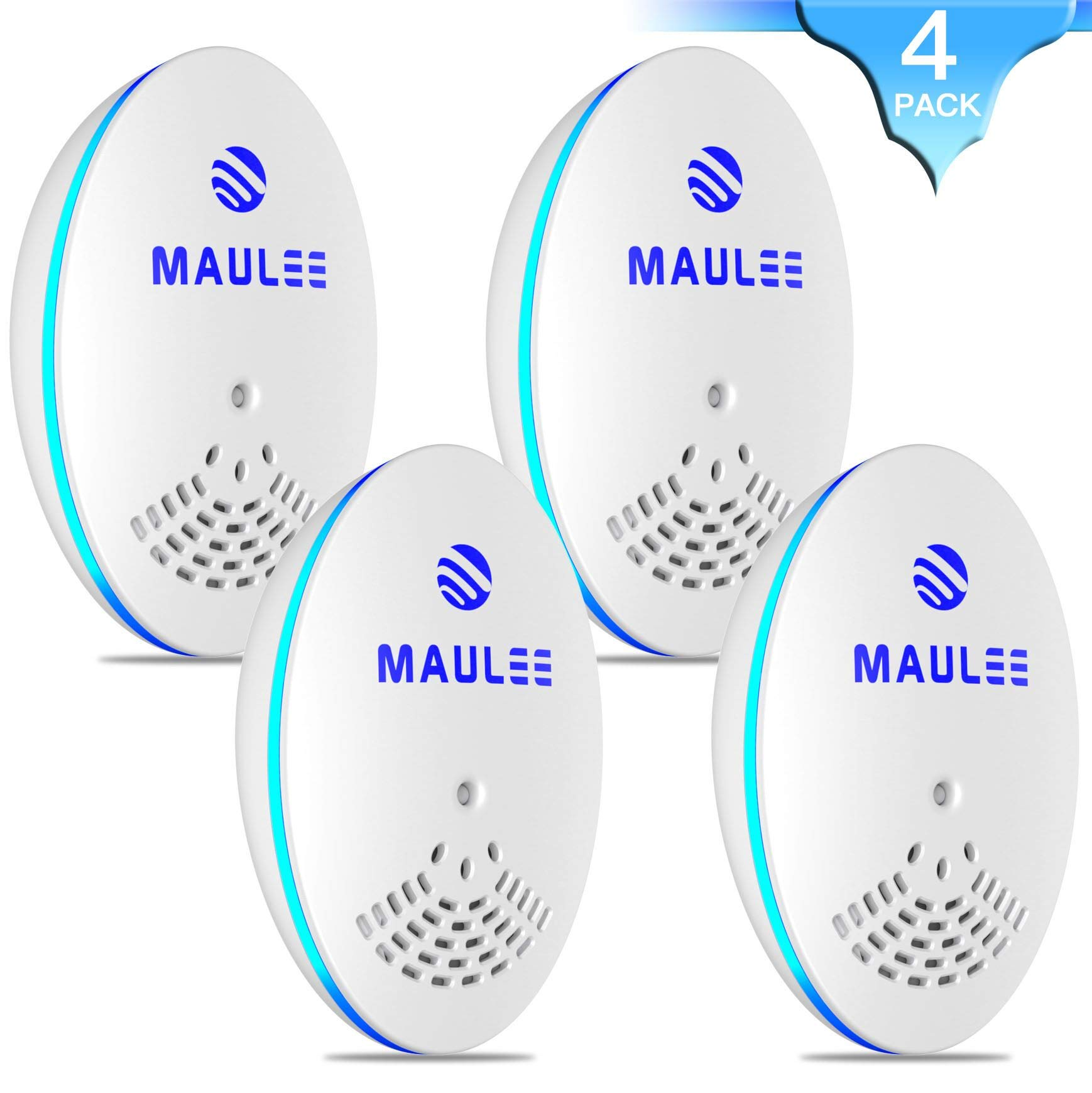 Ultrasonic Pest Repeller, Plug-in Repellent, 4-Pack,Effective Upgraded Electronic & Ultrasound, Indoor use, Anti Mice, Insects, Bugs, Ants, Spiders, Roaches, Rodents, Mosquitos, Rats product image