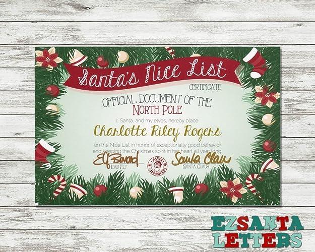 Amazon Ez Santa Letters Christmas Wreath Good List