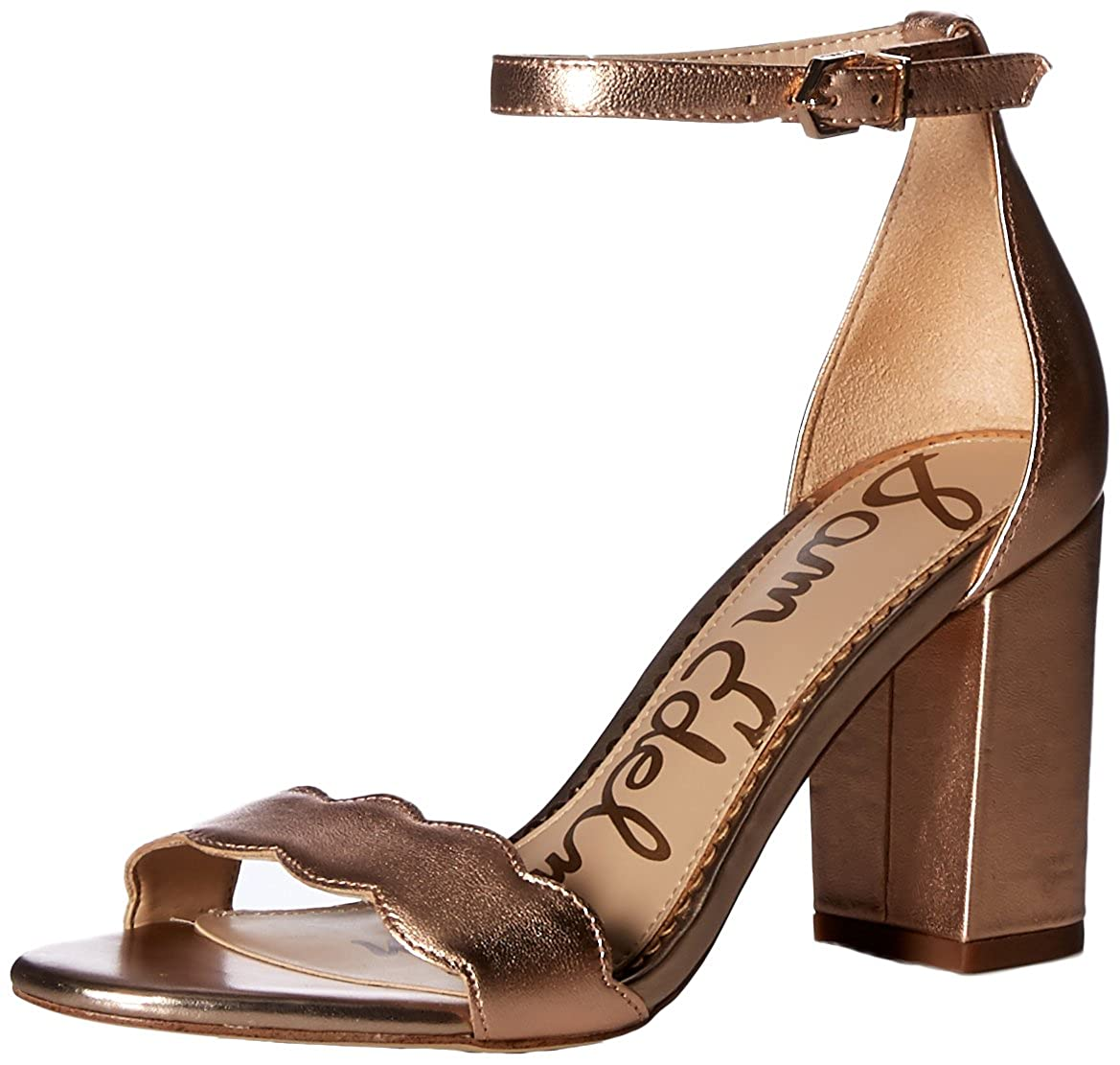 bluesh gold Metallic Leather Sam Edelman Women's Odila Fashion Sandals