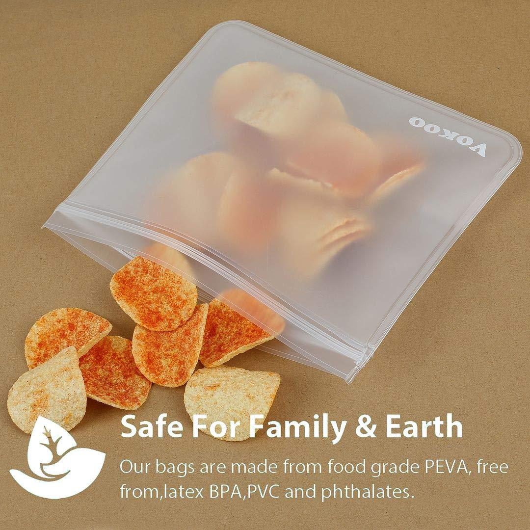 Amazon.com: Bolsas reutilizables para sándwiches, bolsas ...
