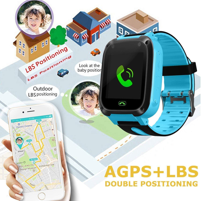 bhdlovely Reloj para Niños Smartwatch LBS/GPS Tracker para Niño y ...