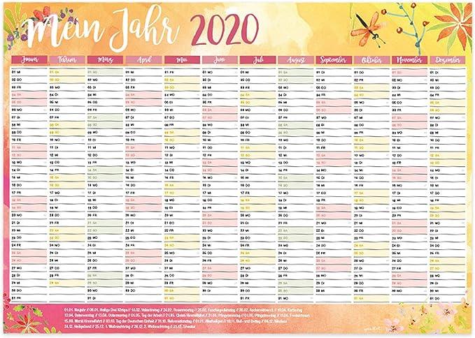 Calendrier mural 2019 I DIN A3 DIN A3 420 x 297 mm Blume DIN A3 2020
