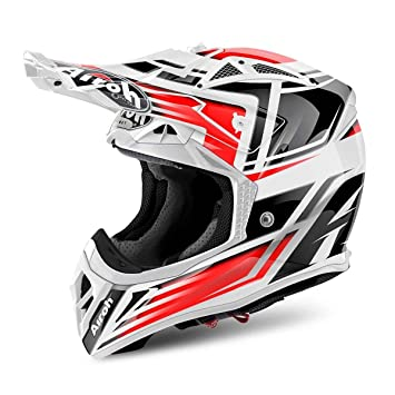 Airoh cambiar el estilo de aviador rojo Full Face casco Moto-X