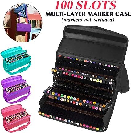 Bolsas para lápices | 100 agujeros para rotuladores estuche de pintura bolsa para herramientas de boceto, bolsa organizadora | por EGALIVE: Amazon.es: Oficina y papelería